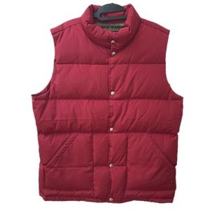 Lands End Red 600 Down Vest